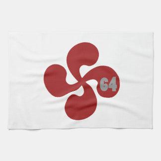Baskisches Kreuz 64 Geschirrtuch