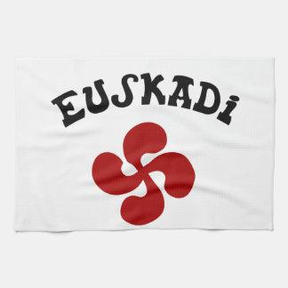Baskisches Kreuz Euskadi Rouge Küchentuch