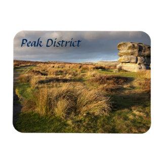 Baslow Rand im Derbyshire-Andenken-Foto Magnet