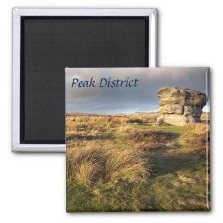 Baslow Rand im Derbyshire-Andenken-Foto Quadratischer Magnet