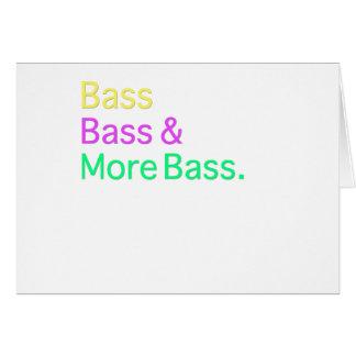 Bass-Baß u. Bass Grußkarte