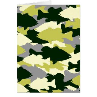 Bass-Fischen-Grün-Camouflage Karte