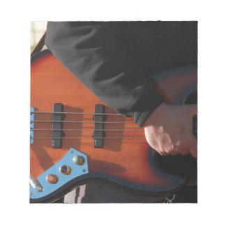 Bass-Gitarre Notizblock