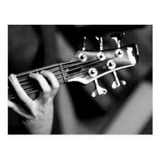 Bass-Gitarre Postkarte