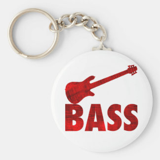 Bass-Gitarre Standard Runder Schlüsselanhänger