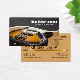 Bass-Gitarren-Lektions-und Musik-Lehrer Visitenkarte