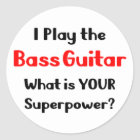 Bass-Gitarrist Runder Aufkleber