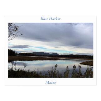 Bass-Hafen Maine Postkarte