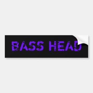 Bass-HauptAutoaufkleber (dunkel) Autoaufkleber