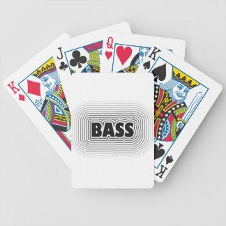 Bass-Musik-Entwurf Bicycle Spielkarten