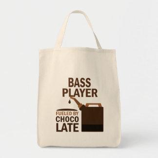 Bass-Spieler-(lustige) Schokolade Einkaufstasche