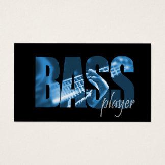 Bass-Spieler-Musiker-Visitenkarte Visitenkarte