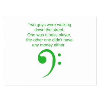Bass-Spielerwitz Postkarte