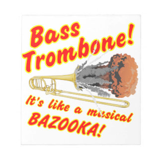 Bass-Trombone-MusicalBazooka Notizblock