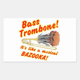 Bass-Trombone-MusicalBazooka Rechteckiger Aufkleber