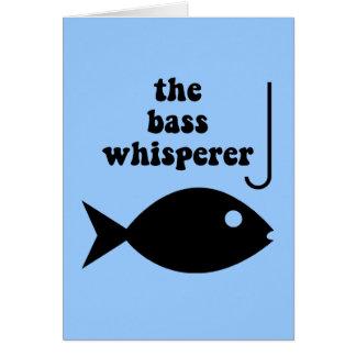 Bass-Whisperer Grußkarte