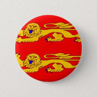 Basse Normandie, Frankreich-Flagge Runder Button 5,7 Cm