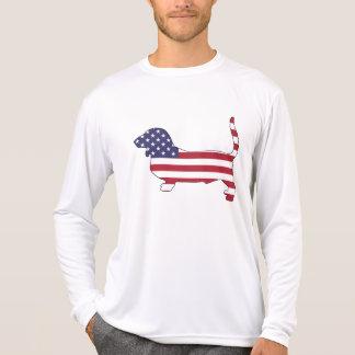 "Basset ""amerikanische Flagge "" T-Shirt"