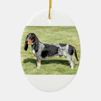 Basset Bleu de Gascogne Dog Keramik Ornament