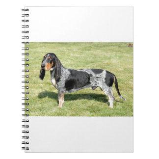 Basset Bleu de Gascogne Dog Notizblock