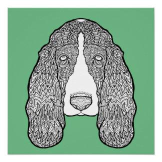 Basset Hound - ausführliche Hunde Poster