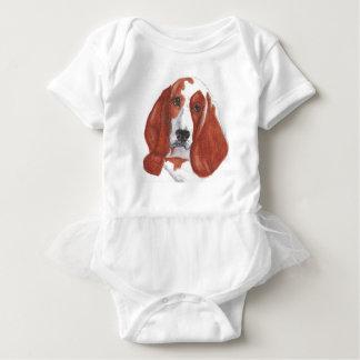 Basset Hound Baby Strampler