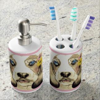 Basset Hound durch Carol Zeock Badezimmer-Set