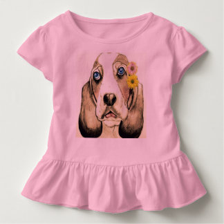 Basset Hound durch Carol Zeock Kleinkind T-shirt