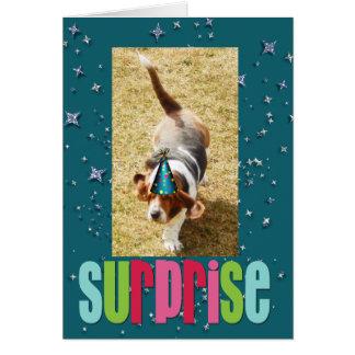 Basset Hound-Geburtstags-Karte Karte