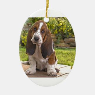 Basset Hound-Hund Keramik Ornament