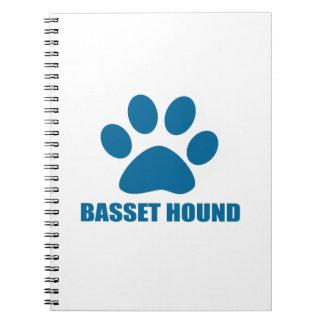 BASSET HOUND-HUNDEentwürfe Spiral Notizblock
