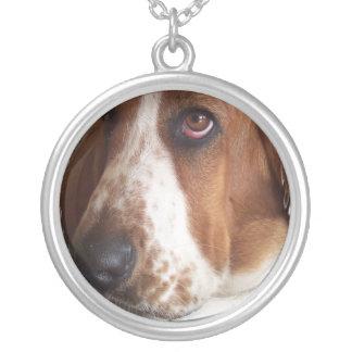 Basset Hound-Hundehalskette Versilberte Kette