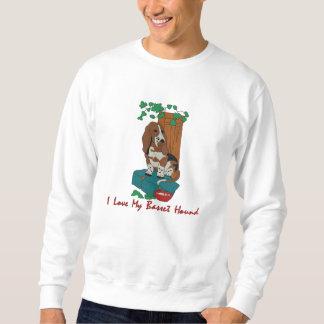 Basset Hound-Kunst gestickt auf Kleid Besticktes Sweatshirt