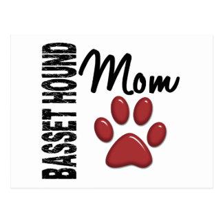 Basset Hound-Mamma 2 Postkarte