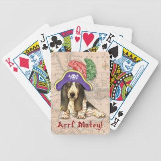Basset Hound-Pirat Bicycle Spielkarten