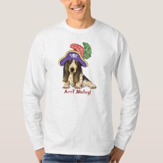 Basset Hound-Pirat T-Shirt