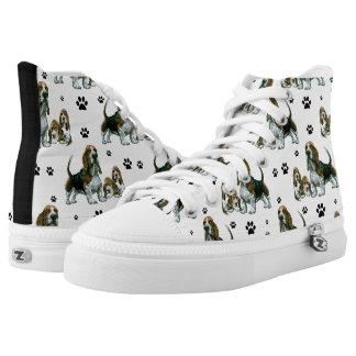 Basset Hound-Schuhe Hoch-geschnittene Sneaker