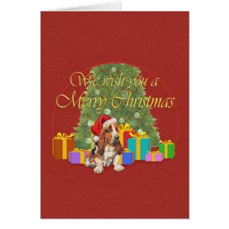 Basset Hound-Weihnachten Karte