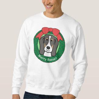Basset Hound-Weihnachten Sweatshirt