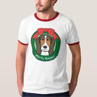Basset Hound-Weihnachten T-Shirt