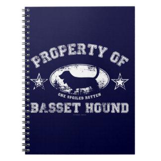 Basset-Jagdhund Notizblock