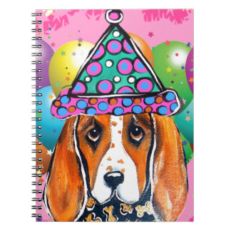 Basset-Jagdhund-Party-Hund Notizblock