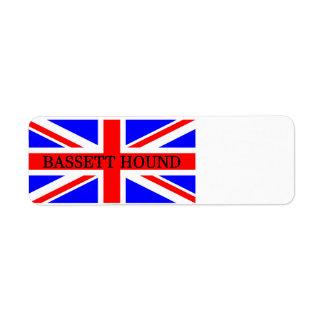 Bassetjagdhundname auf Flagge