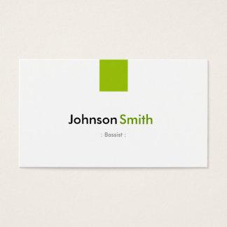 Bassist - einfaches tadelloses Grün Visitenkarte
