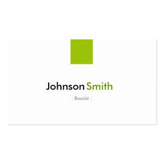 Bassist - einfaches tadelloses Grün Visitenkarten