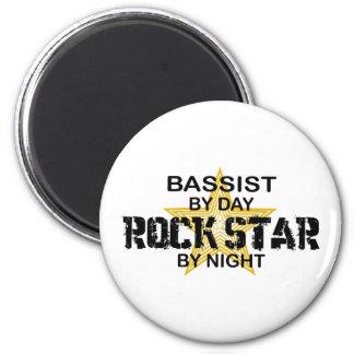 Bassist-Rockstar bis zum Nacht Runder Magnet 5,7 Cm