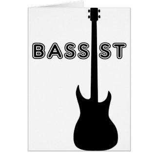 Bassist-Silhouette Karte