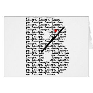 Bassoon-Buchstabe B Karte