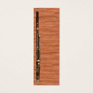 Bassoon-Platz-Wächter Mini Visitenkarte
