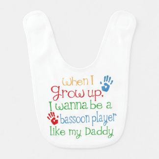 Bassoon-Spieler mögen meinen Vati-Baby-Schellfisch Babylätzchen